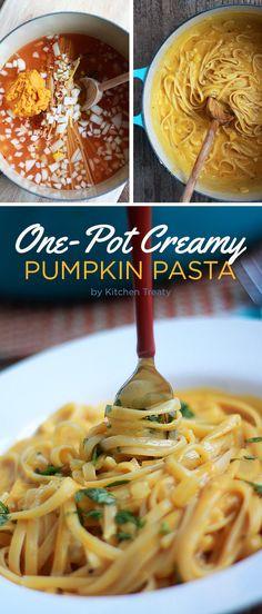 One-Pot Creamy Pumpkin Pasta