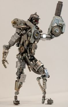 Robots made from tiny spare parts by Nagano | Funnilogy