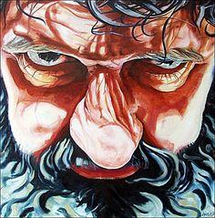 JACE van de Ven geschilderd door Ivo van Leeuwen  (this reminds me of Hagrid)