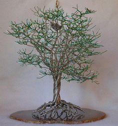 Metal wire tree sculpture   eBay