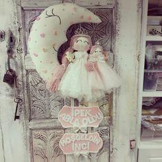Bebek kapi süsü :) Melegineli atölye  baby doll  sister
