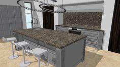 ROME Heban Makassar - WITT Kitchen - 3D Warehouse Shaker Style Cabinets, Kitchen Cabinets, Tall Pantry Cabinet, Real Kitchen, 3d Warehouse, Kitchen Models, Makassar, Wood Veneer, Contemporary