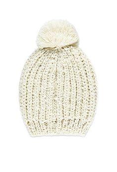 Ribbed Knit Pom-Pom Beanie | Forever 21 - 2000157411