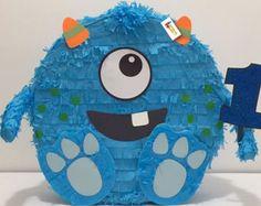 Monstruo piñata primer cumpleaños Monster fiesta tema