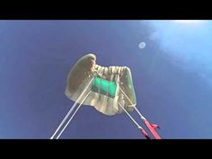 parachute opening in slow motion