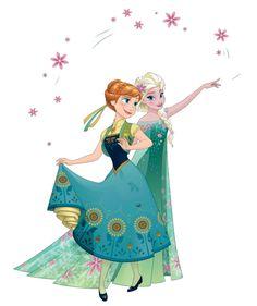 Anna y su hermana Elsa