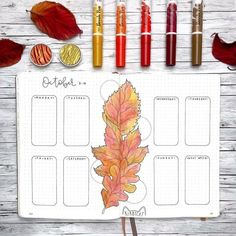 20 Fall Weekly Spread Ideas Choose from 20 Fall Weekly Spread Designs that are perfect for your Bullet Journal this Autumn. Get ideas for your weekly layouts, choose from one page, vertical, horizontal, minimalist and more! Bullet Journal October, Bullet Journal Cover Ideas, Bullet Journal For Beginners, Bullet Journal Spread, Bullet Journal Layout, Bullet Journal Inspiration, Bullet Journals, Leaves Doodle, Doodle Designs