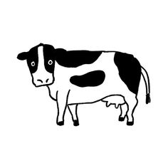 New Year Illustration, Graphic Illustration, Cute Paintings, Little Doodles, Black And White Aesthetic, New Year Card, Cow Print, Embroidery Art, Doodle Art