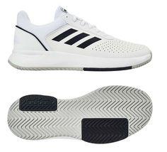 adidas Court Smash Men s Tennis Shoes White Black Racket Racquet NWT F36718   adidas  TennisShoes 2b535bdce8