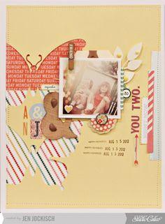 Jen Jockisch for Studio Calico / butterfly cut outs / beautiful colours