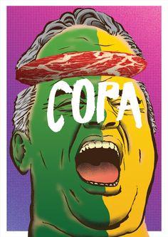 Copa na Cabeça / Guerra de Ilustrações XXXVI on Behance