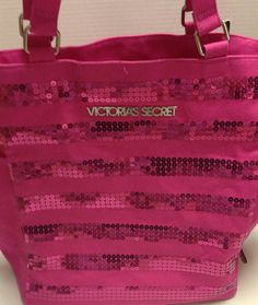 Available @ TrendTrunk.com Victorias Secret Pink Sequin Tote. By Victorias Secret. Only $20!