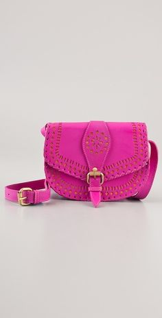 'Cantina' medium bag by Cleobella in fuchsia pink