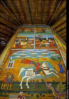 Frescoes in the St. Raguel Church on Mount Entoto (outside of Addis Ababa, Ethiopia)