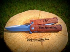 Knife Set of Five 5 Groomsmen Gift Best Man Gift Folding Best Gifts For Him, Gifts For Dad, Personalized Wedding, Personalized Gifts, Engraved Picture Frames, Hunting Gifts, Etsy Handmade, Handmade Items, Handmade Gifts
