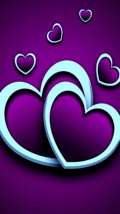 By Artist Unknown. Heart Wallpaper, Purple Wallpaper, Love Wallpaper, Cellphone Wallpaper, Wallpaper Backgrounds, Iphone Wallpaper, Neon Backgrounds, Love You Images, Heart Images