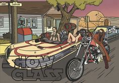 Chicks dig Jedis on motorcycles.