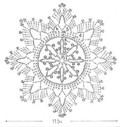 Free pattern for crochet snowflakes