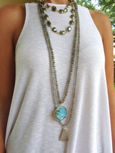 Labradorite Knotted Necklace with Large by GoldenstrandJewelry~<3
