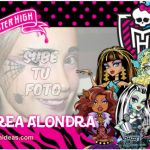 Invitaciones Monster High Gratis para imprimir -