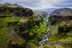 Picture of Thorsmork mountains canyon and river, near Skogar, Iceland stock photo, images and stock photography. Parc National, National Parks, Yellowstone National Park Tours, Destinations, Photos Voyages, Iceland Travel, Lofoten, Machu Picchu, British Virgin Islands