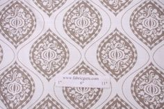 4.7 Yards Robert Allen Ogee Printed Cotton Drapery Fabric in Brindle