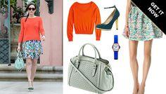 Intermix Honeycomb Knit Flare Skirt