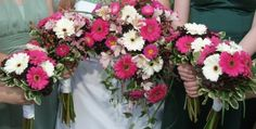 To prove my love of Pink, White and Brown...I present you, my wedding flowers.