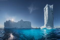 Icebergs off the western coast of Greenland Photography Tours, Photography Workshops, Landscape Photography, Extreme Photography, Image Photography, Amazing Photography, Beautiful World, Beautiful Places, Greenland Travel