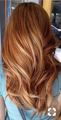 Red Hair With Blonde Highlights, Red Blonde Hair, Brown Ombre Hair, Light Brown Hair, Copper Highlights, Blonde Honey, Blonde Ombre, Burgundy Hair, Peekaboo Highlights