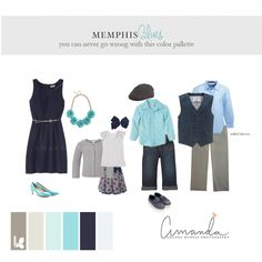 What to Wear in Shades of Blue Amanda McNeal Photography Nashville Family Photographer Spring 2014