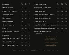 coffee shop menu board design - Google Search