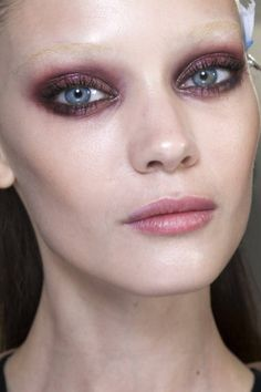 Gucci Makeup. Fall 2013. Lots of smoked out cranberry eyes & berry lips.