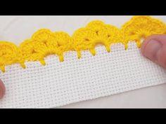 Crochet Blanket Border, Crochet Boarders, Crochet Edging Patterns, Crochet Lace Edging, Crochet Leaves, Crochet Cross, Crochet Designs, Crochet Flowers, Free Crochet
