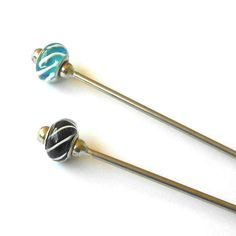 Steel Hair Stick with Spirals
