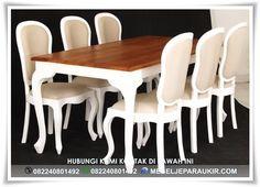 Set Kursi Makan Duco Putih Minimalis Victorian