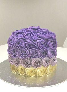 Purpul rose ombre cake Rose Ombre Cake, Ma Baker, Desserts, Food, Meal, Deserts, Essen, Hoods, Dessert