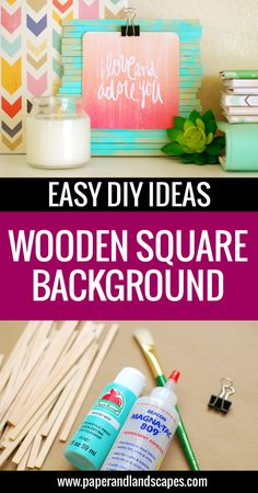 Wooden Square Background - Easy DIY Ideas - Paper and Landscapes