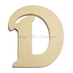 "Unfinished Wooden Uppercase Letter ""D"" - Victorian Font"