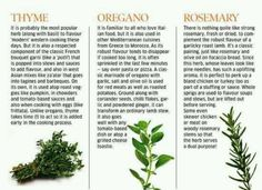 more herbs and their benefits!