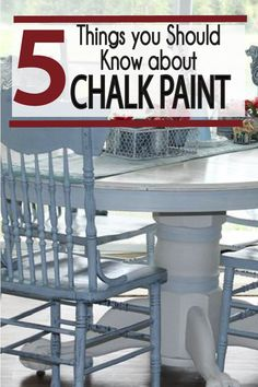 Chalk paint tips and ideas for DIY projects!  Chalk paint give  a beautiful antique finish to any project in your home!