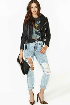 Acid Test Boyfriend Jeans