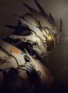 "cyberclays: "" Robot portraits - by George Stratulat "" Futuristic Armour, Futuristic Art, Robot Concept Art, Armor Concept, Mode Cyberpunk, Character Art, Character Design, Arte Robot, Robot Design"