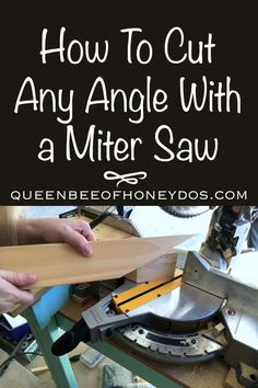 Any Angle Cut With Your Miter Saw! You don't have to be restricted to the angles provided by your miter saw. See how to get any angle imaginable!You don't have to be restricted to the angles provided by your miter saw. See how to get any angle imaginable! Woodworking Jig Plans, Woodworking Techniques, Easy Woodworking Projects, Woodworking Furniture, Woodworking Shop, Diy Projects, Popular Woodworking, Must Have Woodworking Tools, Woodworking Magazines