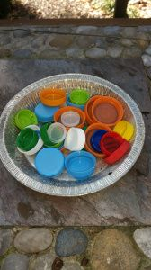 Create Children's Christmas Ornaments from milk and soda lids