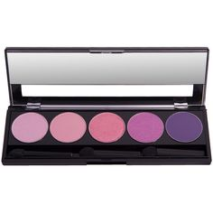 Atika Cosmetics Barbie Pinks Matte & Shimmer Eyeshadow Makeup Palette ($87) ❤ liked on Polyvore featuring beauty products, makeup, eye makeup, eyeshadow, beauty and palette eyeshadow