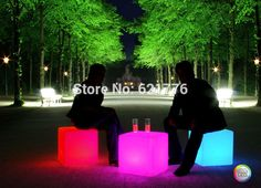 Unbreakable 35CM LED Stool square cube luminous Led Furniture light LED Chair/table for home/bar/nightclub/party decorative