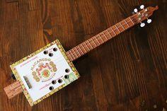 Cigar Box Baritone Ukulele 4 String by MonkeyPox on Etsy