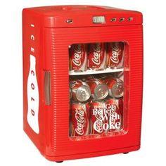 Confira aqui - Mini Refrigerador Portátil - Ice Cold Coca Cola - Versare Anos Dourados
