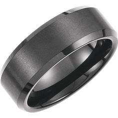 8.3mm Wide 2.5mm Thick Black Immerse Plated Satin Finish Center and Polished Edges Please Note Tungsten Rings Cannot be Sized. *** Special Order. Please Allow